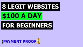 Earn $100 $150 Per Day Passive Income in Online  | Make Money Online 8 Legit Websites at Home