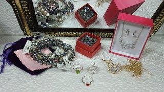 Обзор 39. Комплект бижутерии,кольца 925,броши,aliexpress, пресноводный жемчуг,ASHIQI, бусины
