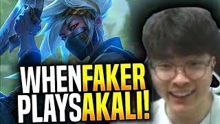 Faker is Ready to Destroy with New Akali! - SKT T1 Faker Picks Akali Mid! | SKT T1 Replays