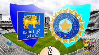 ICC Asia Cup 2014 (Match 2) Sri Lanka v India - (International Cricket 2010 Game)