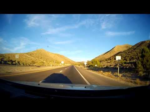 Driving from Death Valley to Las Vegas - HD Timelapse