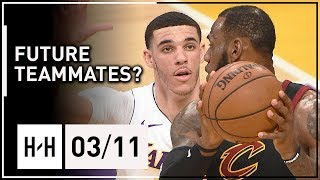 LeBron James vs Lonzo Ball INTENSE Duel Highlights (2018.03.11) Lakers vs Cavaliers - SICK!