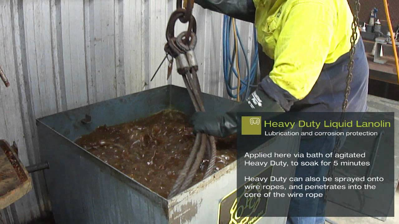 Lanotec - Cleaning, Lubricating and Protecting Wire Rope - YouTube