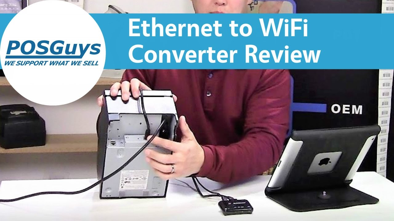 Ethernet to WiFi Converter Product Review - POSGuys.com - YouTube
