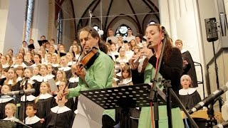 """Down by the Sally Gardens"" - traditional Song - (Irish: Gort na Saileán)"