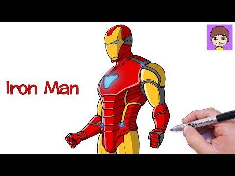 Como Dibujar a Iron Man Paso a Paso - Dibujos para Dibujar - Dibujos Faciles Avengers Endgame
