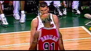 Dennis Rodman Heated Moments 1996 NBA Finals