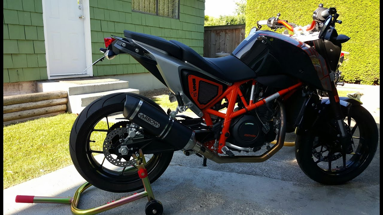 ktm duke 690 full arrow exhaust youtube. Black Bedroom Furniture Sets. Home Design Ideas
