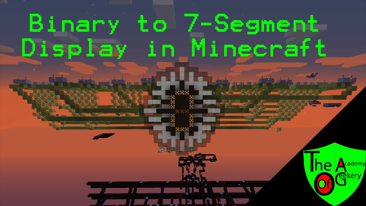Minecraft Binary To 7 Segment Display V2 Update Youtube