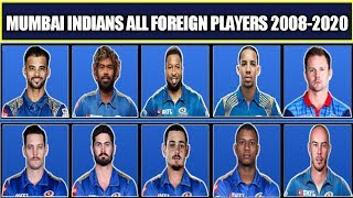 Mumbai Indians All Foreign Players From 2008-2020 | MI All Overseas Players in History of IPL Latest