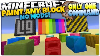 Minecraft | PAINT ANY BLOCKS! | Paintball Gun | Only One Command (Minecraft Vanilla Mod)