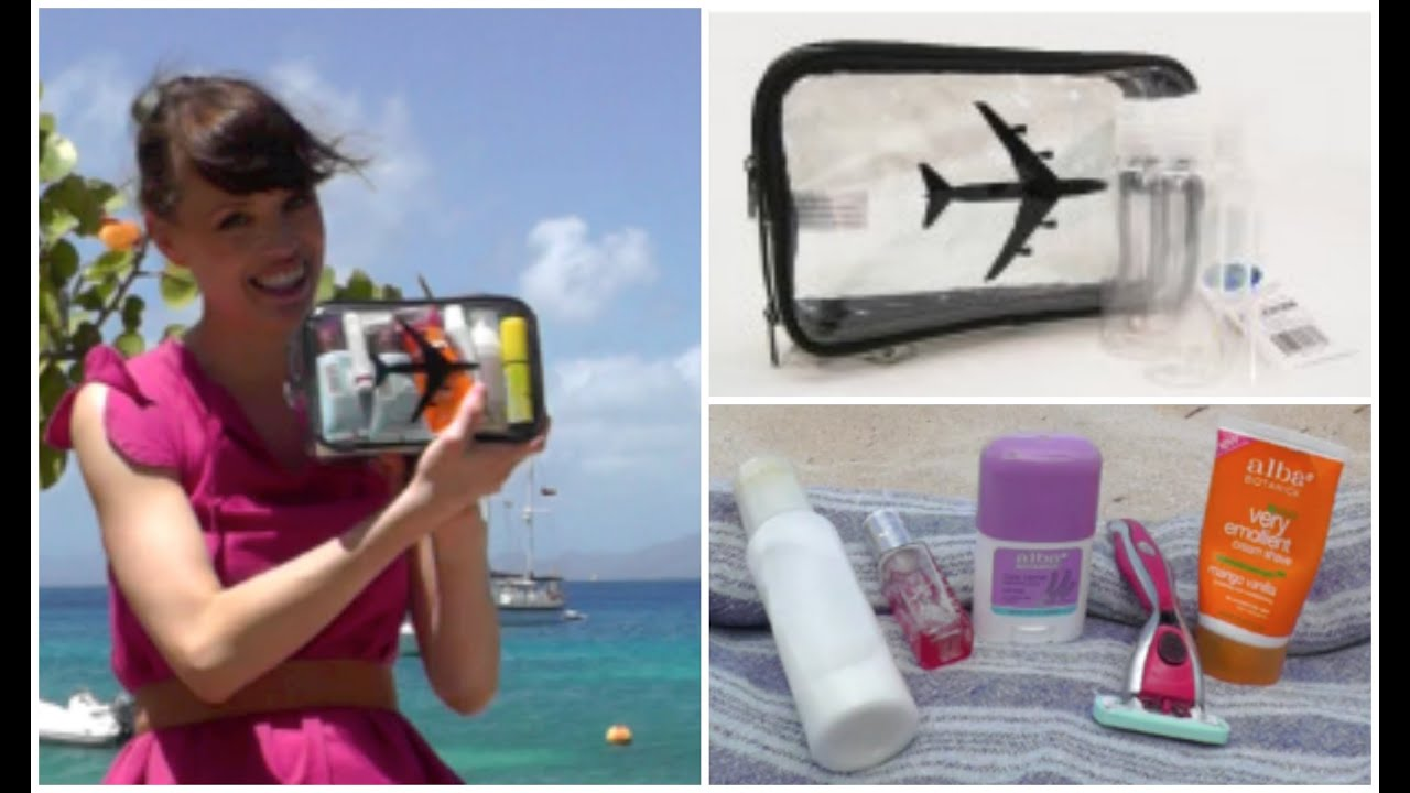 What to pack in a travel toiletry bag for carry on youtube How to pack a carry on suitcase video