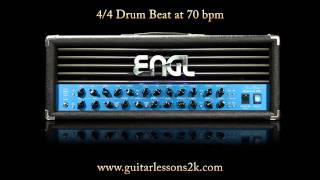 Drum Beats To Practice With: 4/4 Drum Beat at 70 BPM