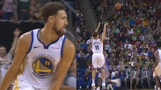 Klay Thompson Shows Stephen Curry Why He's The Best Shooter - 19 Points in 5 Minutes Of 1st Quarter!
