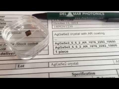 AgGaSe2 for difference frequency generation 1878nm and 2282nm to 10.6 um sales@dmphotonics.com