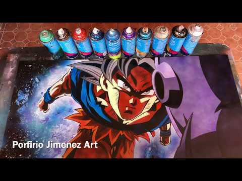 Goku vs Jiren Spray Paint Art Stencil