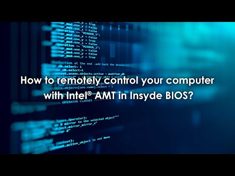 How To Remotely Control Your Computer With Intel® AMT In Insyde BIOS?