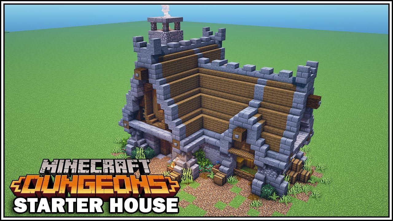 How to Build the Starter House in Minecraft Dungeons!!! [Minecraft Tutorial]