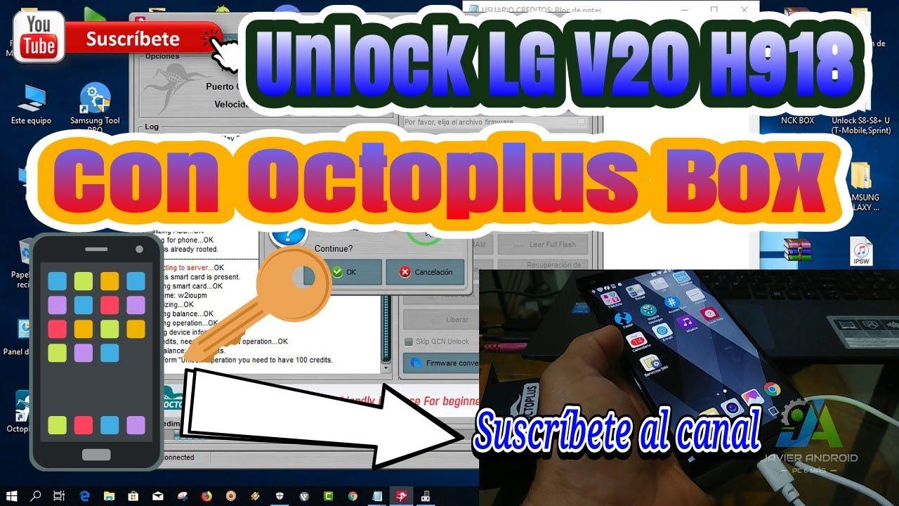 Unlock LG V20 H918 Con Octoplus  видео Online - Ceo-english ru
