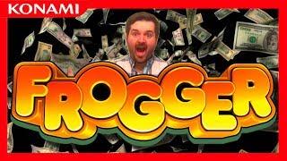 A HOPPIN' BIG WIN! 💰 FROGGER SLOT MACHINE BONUS ROUNDS!