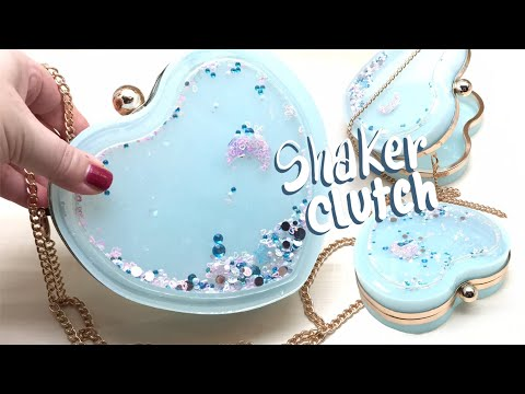 Heart Shaker Clutch (handbag)- Miniature Sweet kit- Resin- DIY