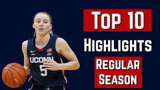 Paige Bueckers Top 10 Highlights Of The Regular Season