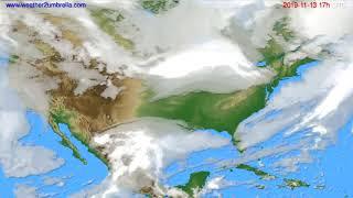 Cloud forecast USA & Canada // modelrun: 00h UTC 2019-11-12