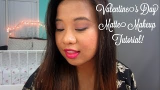 Valentine's Day Matte Makeup Tutorial! Thumbnail