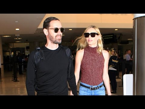 Kate Bosworth And Husband Michael Polish Glide Through LAX Holding Hands