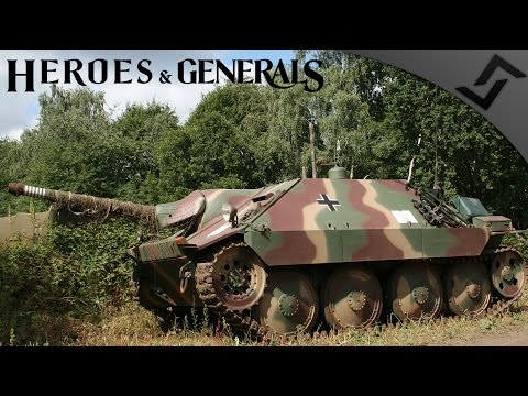 Hetzer Remote Control MG Carnage - Heroes and Generals - German Tank Destroyer Gameplay