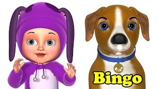 Repeat youtube video Bingo Dog Song - Animals Rhymes &  Songs for Kids - Learn Animal Videos for Children