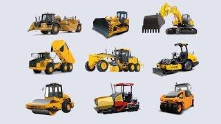 Дорожно-строительная техника. Road Construction Vehicles for Kids. Learning