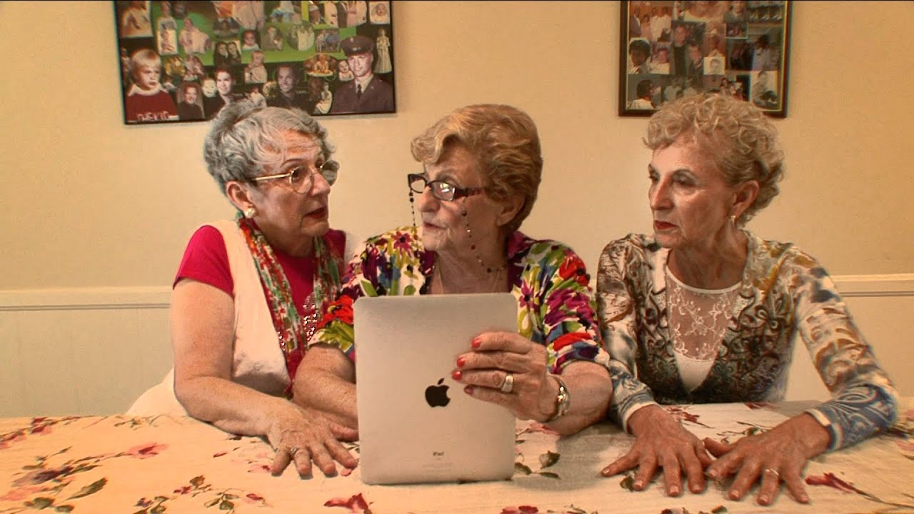 3 golden sisters on 70 year old virgin youtube