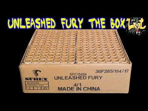 Unleashed Fury The Box 196 Shots!! NIEUW Vuurwerk 2017!!