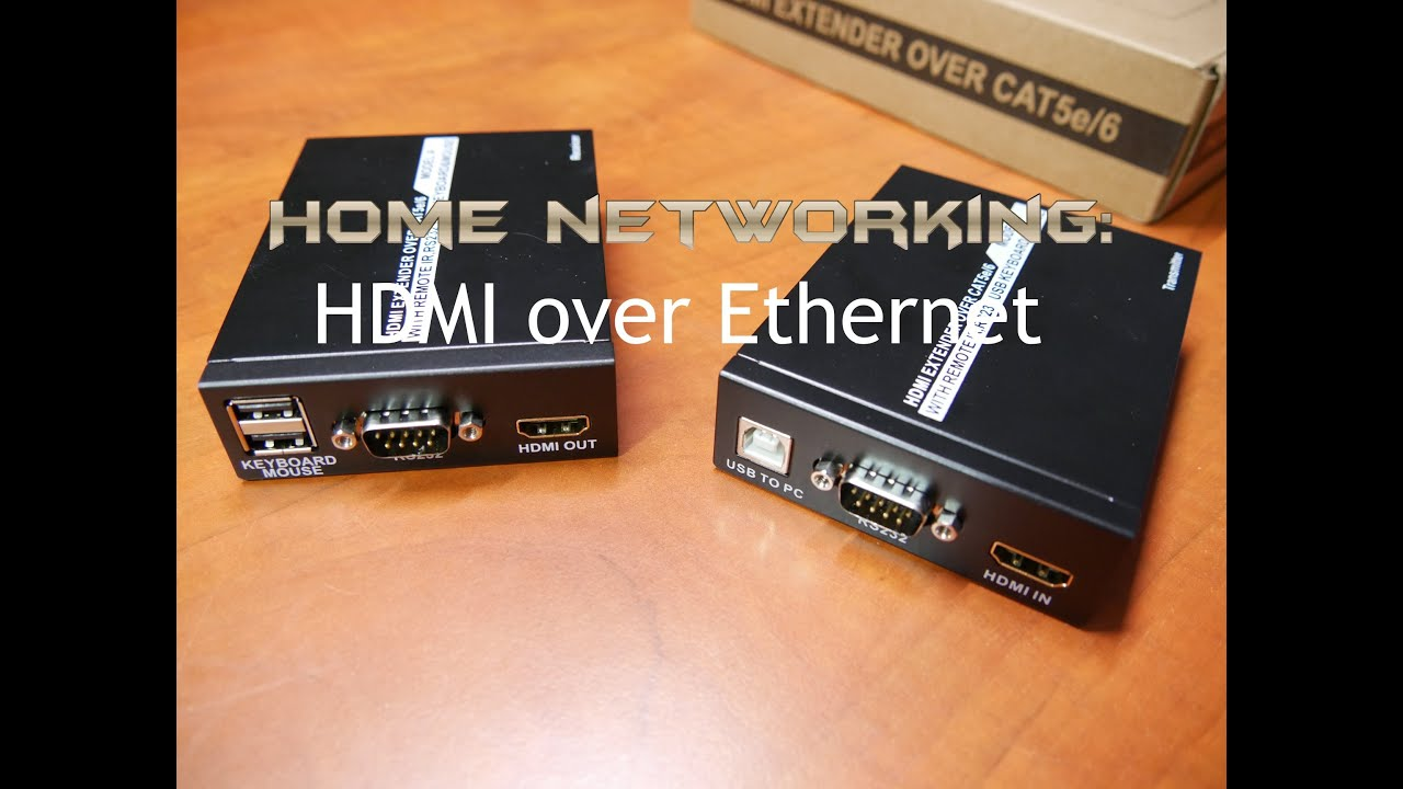 Home Networking Hdmi Over Ethernet Cable Extender Youtube Wiring