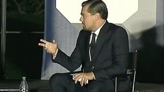 leonardo dicaprio obama talk climate change at sxsl