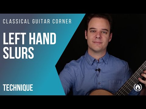Classical Guitar Technique Tip : Left Hand Slurs