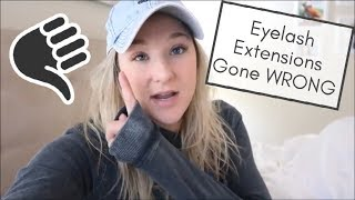 LASH EXTENSION NIGHTMARE | DAY IN THE LIFE VLOG | BRITTANI BOREN LEACH