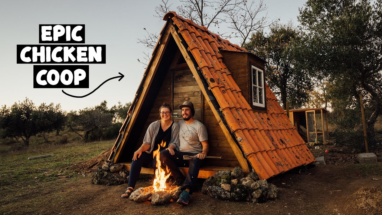 We Can't Believe What We've Done! Finishing our A-Frame Chicken Coop
