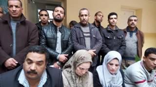 عمال خزينة الاغواط في حركة احتجاجية سلمية للمطالبة بالحماية القانونية . حكيم ب