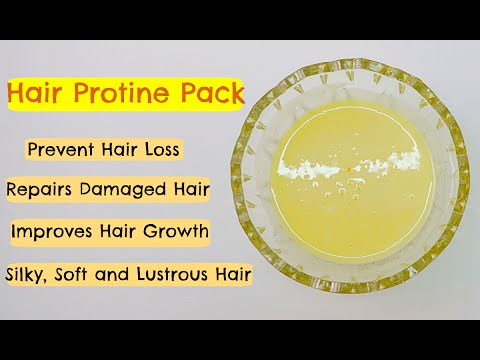 DIY Egg Protein Pack | Deep Conditioning Hair Protein Treatment at Home - YouTube