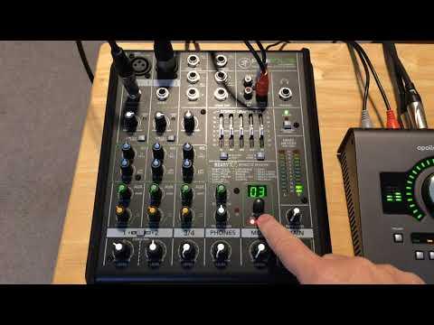 Mackie ProFX4 Mixer Demo (vocals, acoustic guitar)