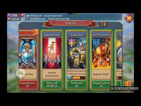 Lords Mobile - Guild Fest - 2 Times Top 70 Hell Event Using 548k Energy!