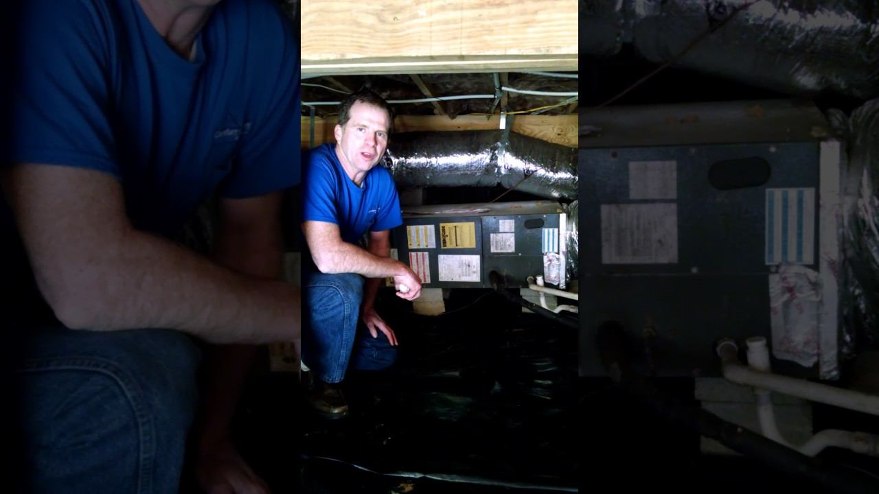 Tips For Homeowners  Air Handler In A Crawlspace