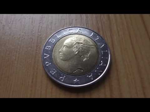 L 500 coin of the Italian Lira - Repvbblica Italiana in HD