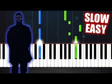 The Weeknd - Call Out My Name - SLOW EASY Piano Tutorial by PlutaX