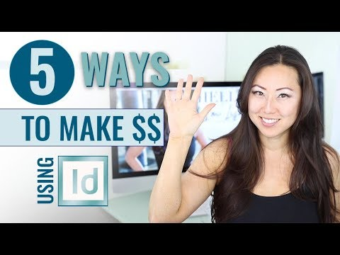 How to make money using Adobe InDesign // 5 Ways to Make Money using Adobe InDesign