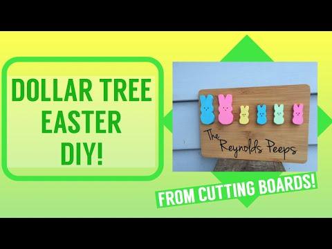DOLLAR TREE Easter DIY! Scroll Saw/Cricut Project