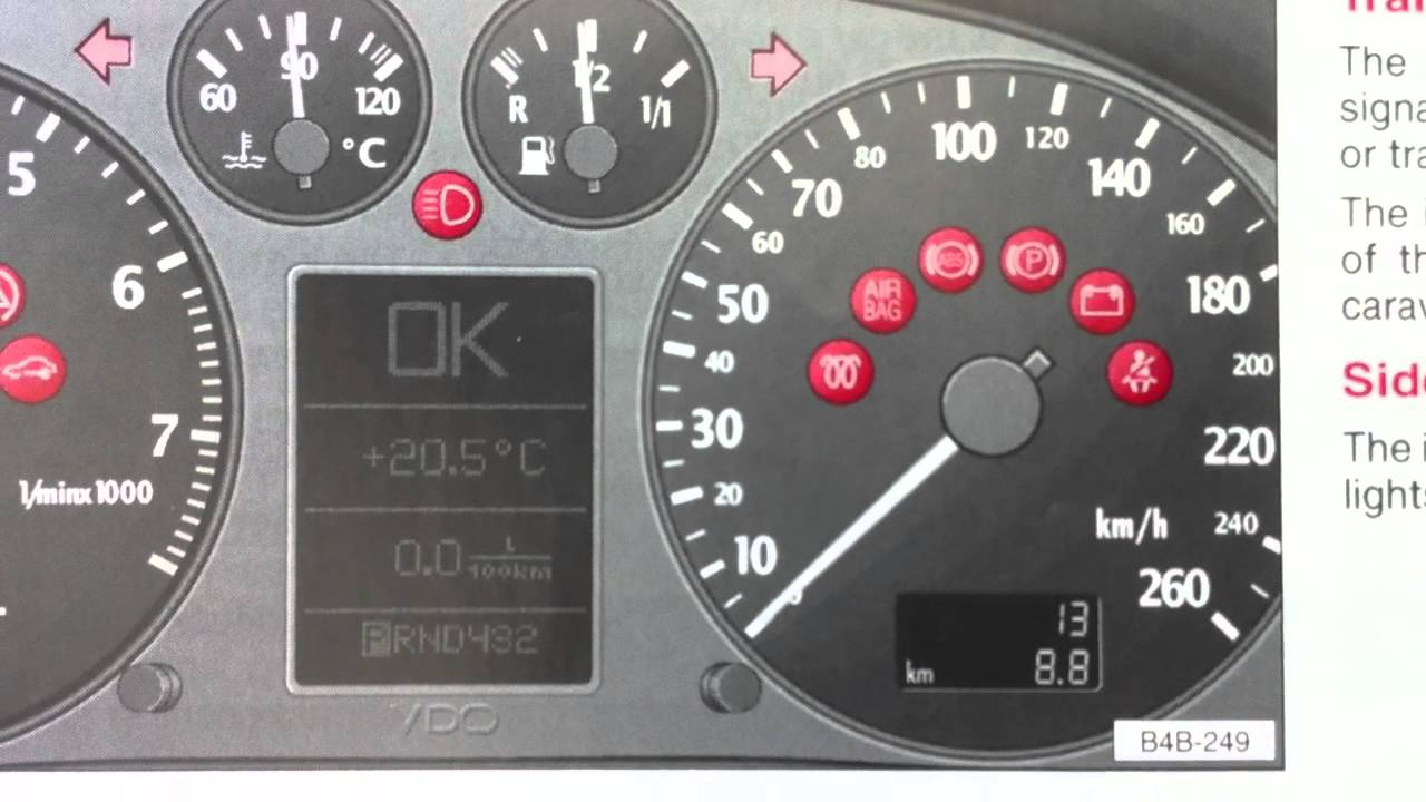 Audi A6 C5 Dashboard Warning Lights & Symbols Diagnostic