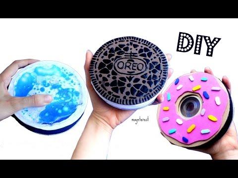 DIY 3 MONEDEROS ESTUCHE Lava lamp, Oreo, Donut - Manualidades de reciclaje